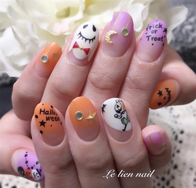 50 Awe-Inspiring Halloween Nail Art Designs