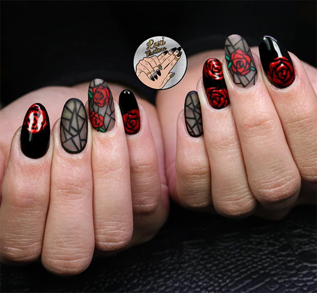 50 Awe-Inspiring Halloween Nail Art Designs - 50 Awe-Inspiring Halloween Nail Art Designs Fashionisers©