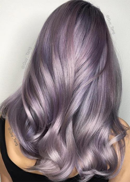 50 Lovely Purple & Lavender Hair Colors - Purple Hair Dyeing Tips ...