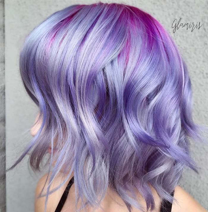 50 Lovely Purple & Lavender Hair Colors - Purple Hair Dyeing