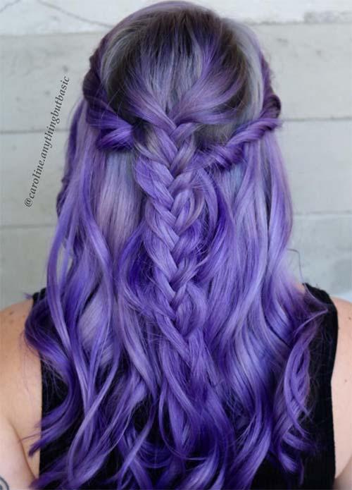 88d0c05efd65 50 Lovely Purple   Lavender Hair Colors - Purple Hair Dyeing Tips ...