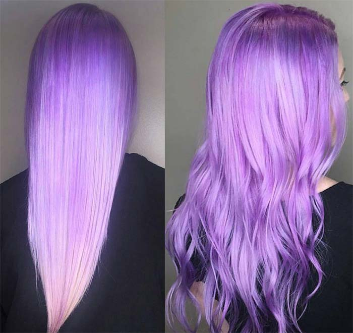 50 Lovely Purple Lavender Hair Colors Dyeing