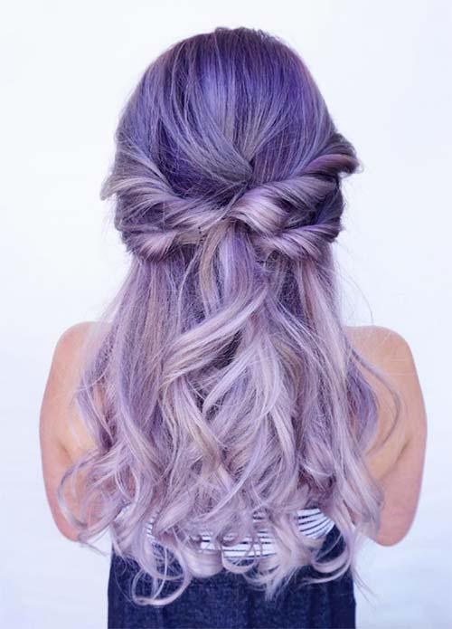 Bright Violet Hair Color
