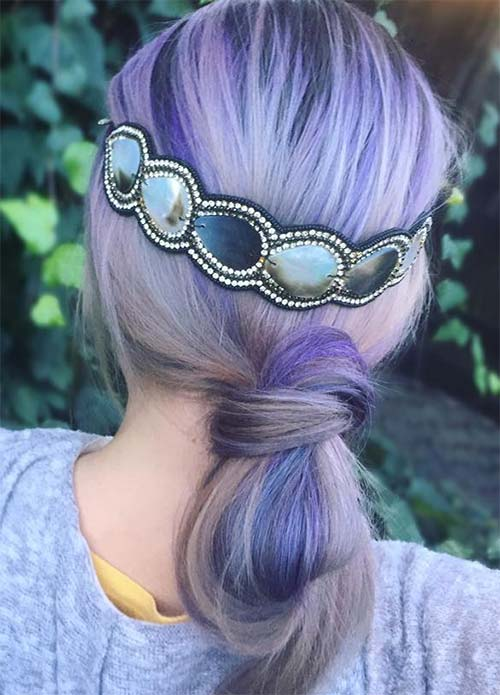 Lovely Purple & Lavender Hair Colors in Balayage and Ombre