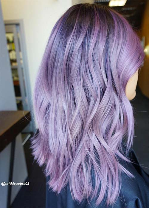 Lovely Purple Lavender Hair Colors In Balayage And Ombre