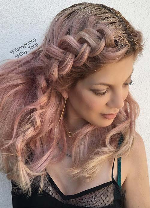 65 Rose Gold Hair Color Ideas for 2017 , Rose Gold Hair Tips
