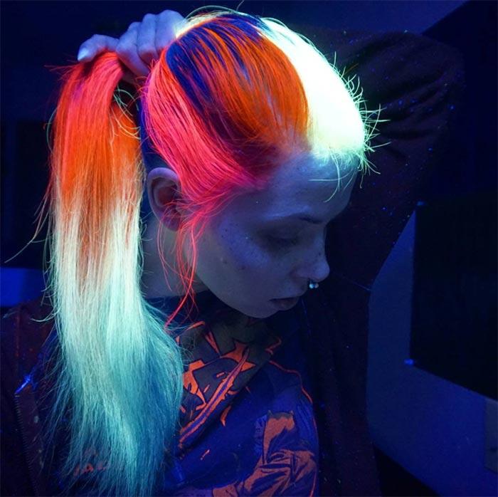 Glow In The Dark Hair Glowing Phoenix Neon Hair Fashionisers C