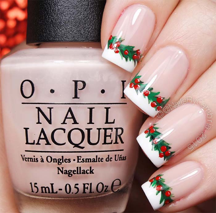 Red Ombre Nails Christmas.53 Sparkling Holiday Nail Art Designs To Try This Christmas