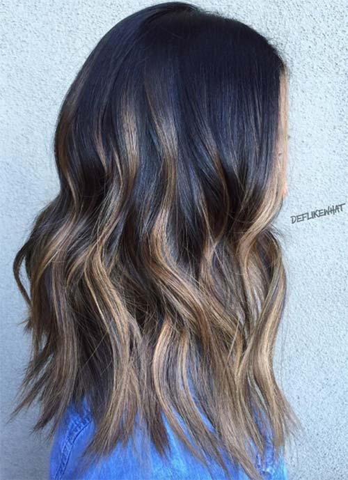 Wavy Medium Length Long Layers Haircut 53