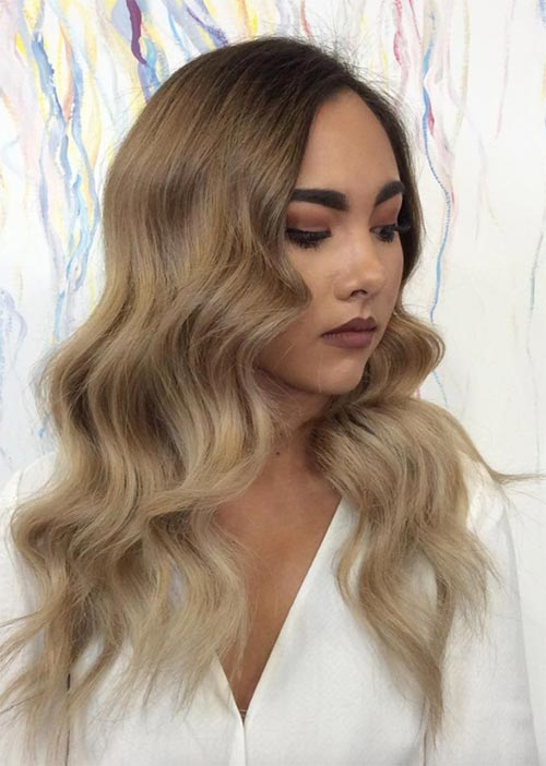 Pretty Holiday Hairstyles Ideas: Bombshell Waves