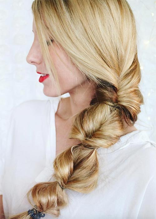 Pretty Holiday Hairstyles Ideas: Twisted Low Ponytail