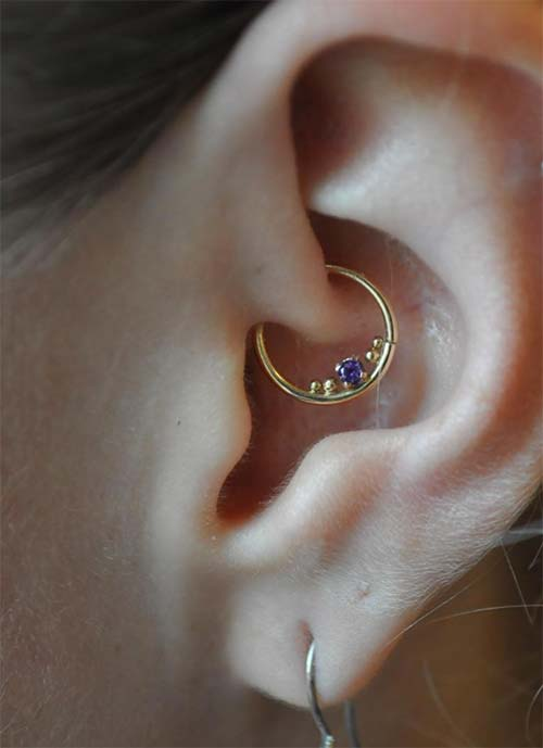 Types of Ear Piercings: Daith Piercing