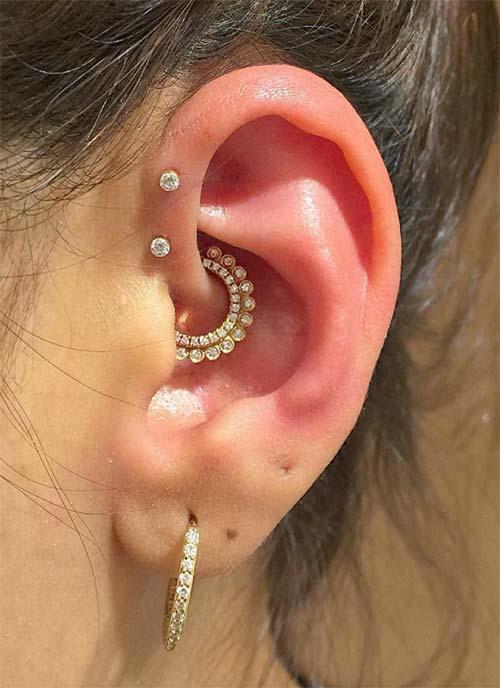 Types of Ear Piercings: Forward Helix Piercing