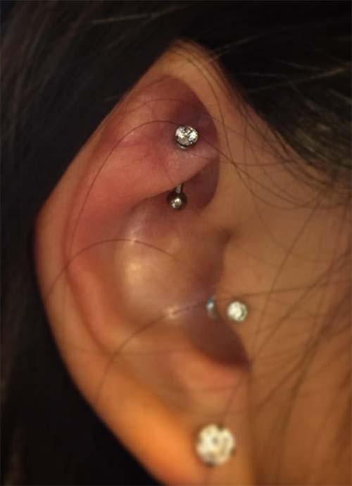 Types of Ear Piercings: Rook Piercing