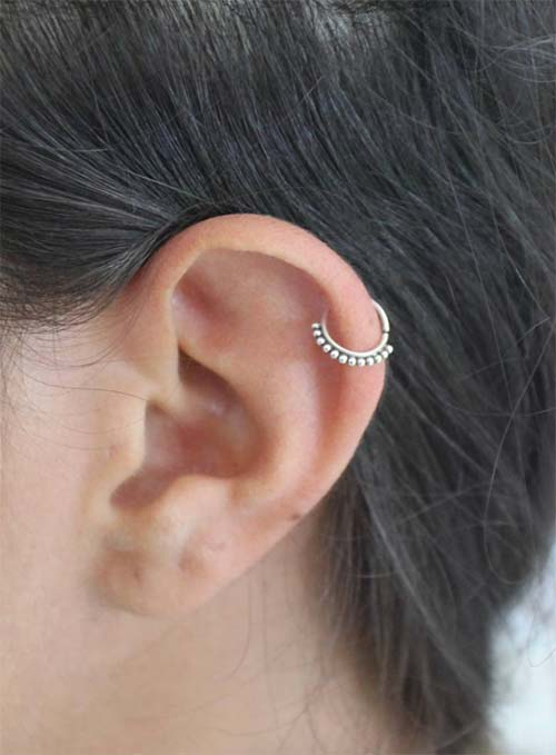 Types of Body Piercings: Ear Piercings - Helix Piercing