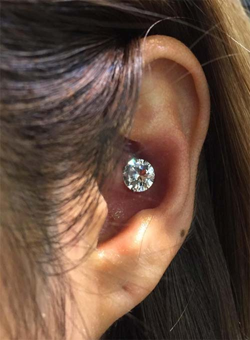 Types of Body Piercings: Ear Piercings - Inner Conch Piercing