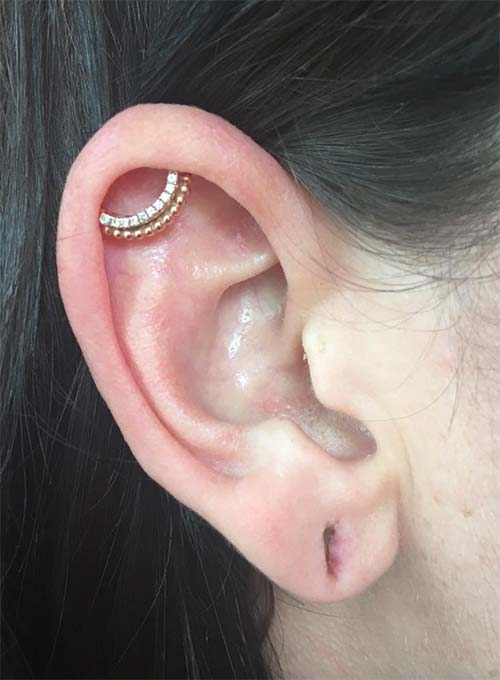 Types of Body Piercings: Ear Piercings - Orbital Piercing