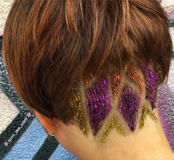 Glitter Undercut Hairstyles