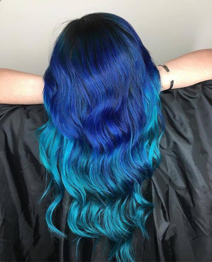 Ocean Hair Trend Blue Hair waves