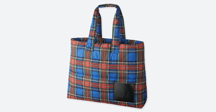 J.W. x Uniqlo Collaboration Plaid Shopping Bag
