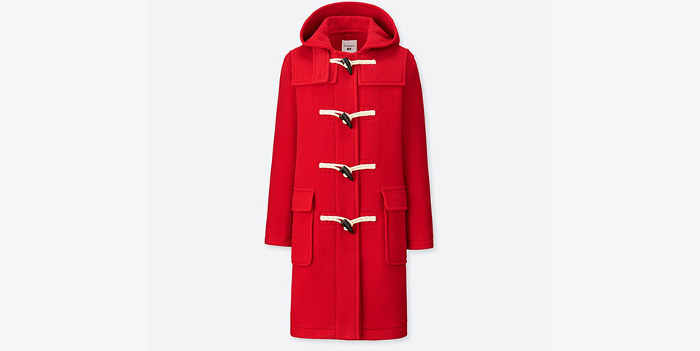 J.W. x Uniqlo Collaboration Duffel Red Coat