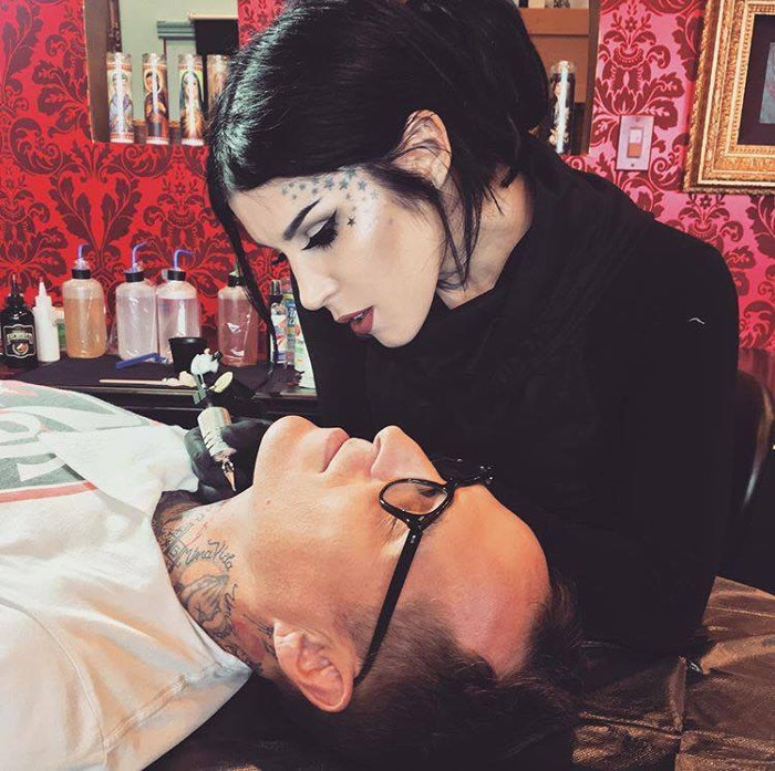 Kat Von D Teased Metal Crushed Highlighters and Launched The Glimmer Palette Kat Von D tattoos client