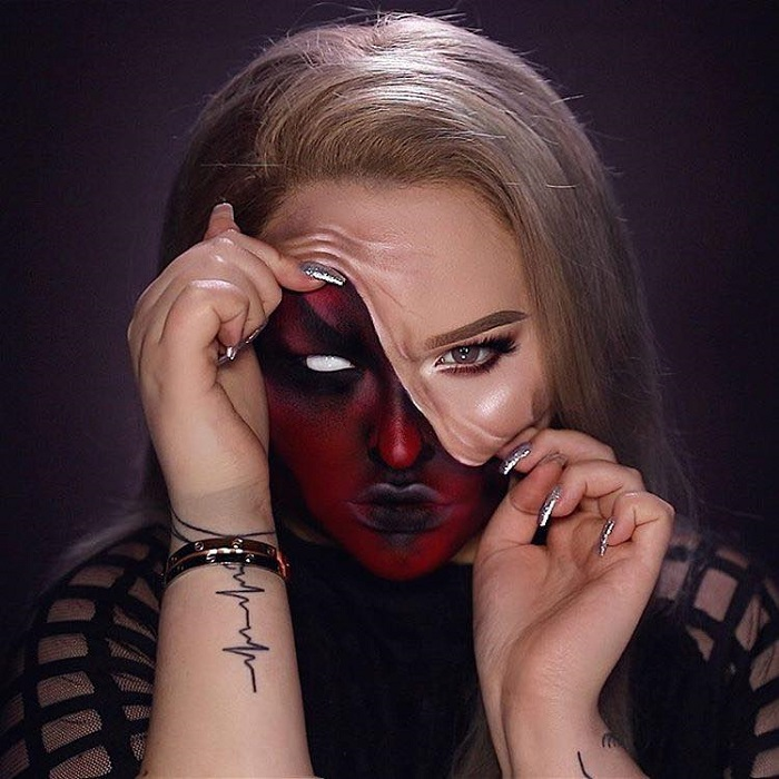 Insane Halloween Makeup Ideas to Try This Year demon face