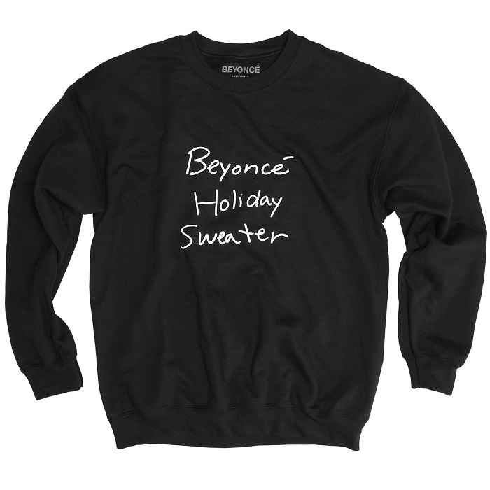 Beyoncé Dropped Holiday Merchandise black sweatshirt