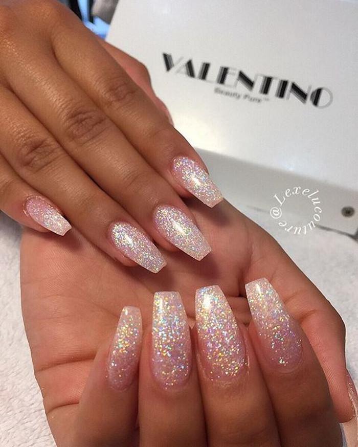 Glitter Nail Designs rose glitter nails