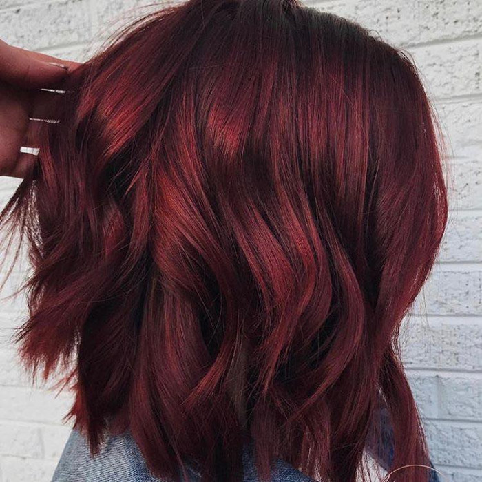 Mulled Wine Hair Color Will Get You Drunk in Love burgundy hair