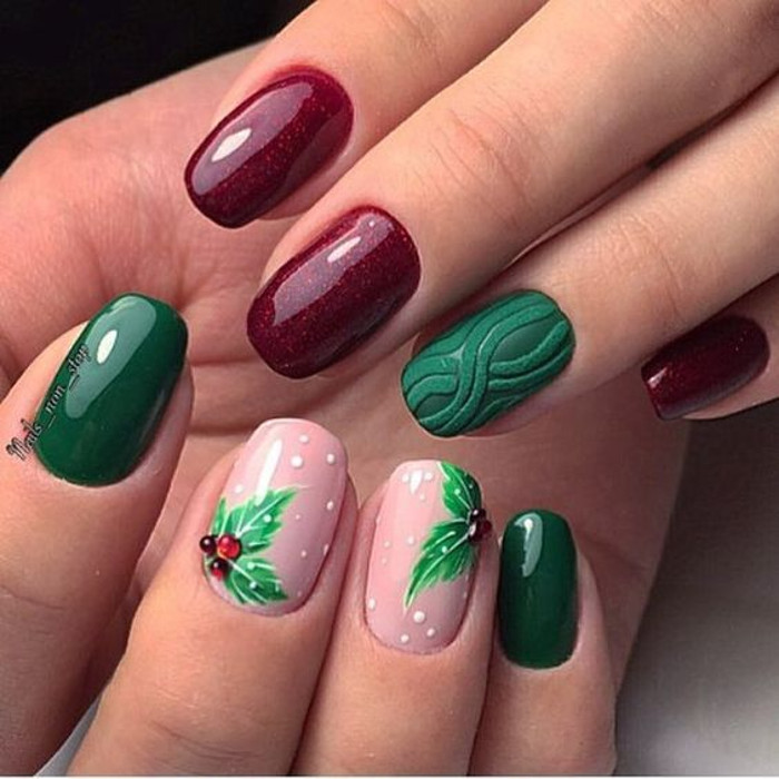 Stunning Textured Nail Designs to Try Sweater Christmas Nails