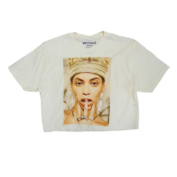 Beyoncé Dropped Nefertiti-Inspired Merch white crop top