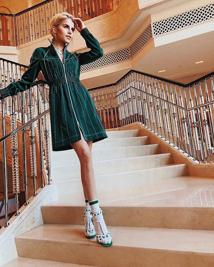 Socks and Heels Is the Statement Combo You Need in Your Life green dress