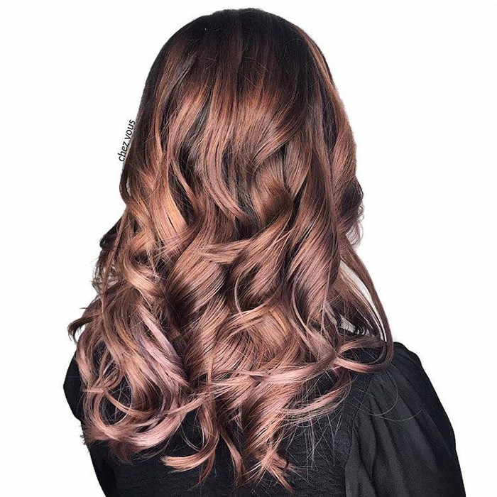 Rose Brown Hair is The Prettiest Spring trend for Brunettes