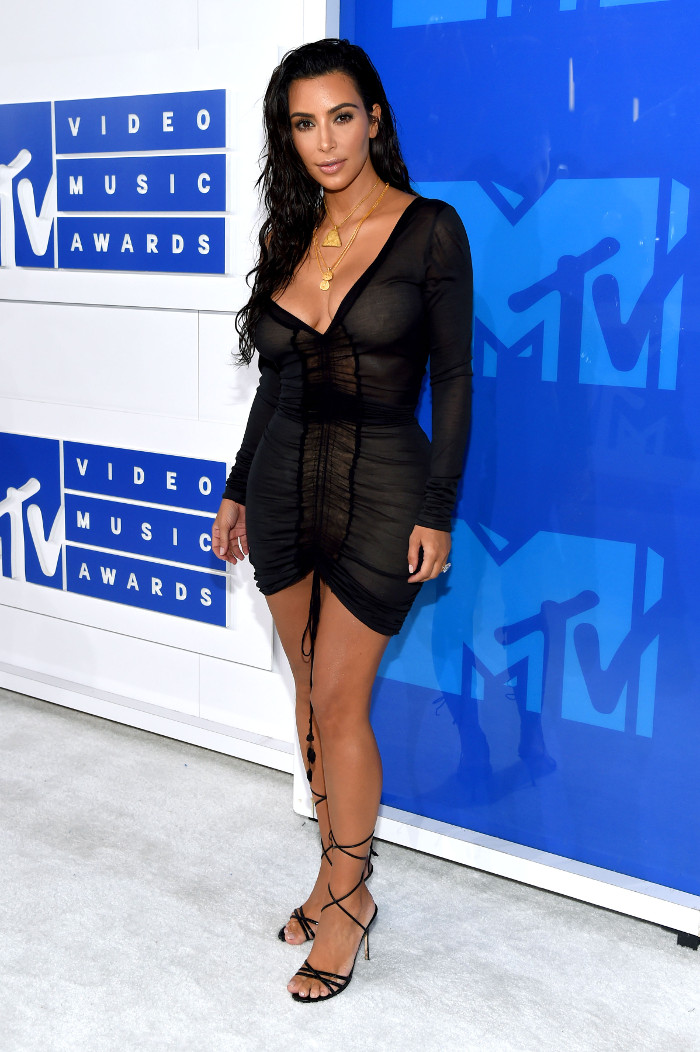 The Sultriest Black Dresses Spotted on Celebrities Kim Kardashian