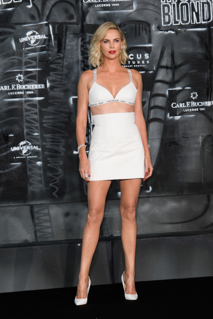 15-Times-Celebbrities-Wore-Lingerie-as-Clothing-Sharlize-Theron
