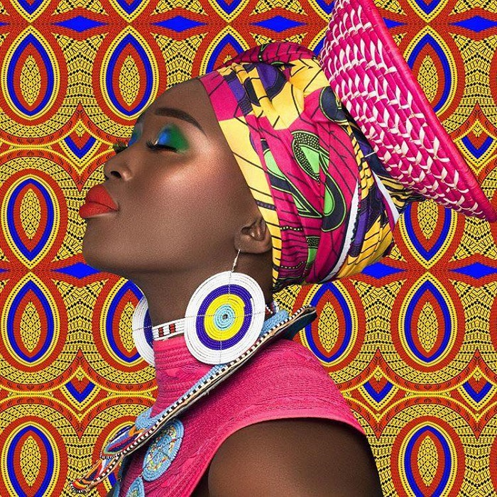 Juvia's Place Celebrates Ulta Partnership With Afrique Collection eyeshadow palette red lipstick