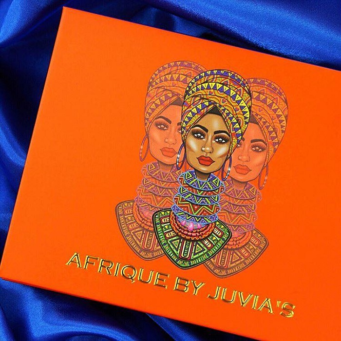Juvia's Place Celebrates Ulta Partnership With Afrique Collection eyeshadow palette packaging
