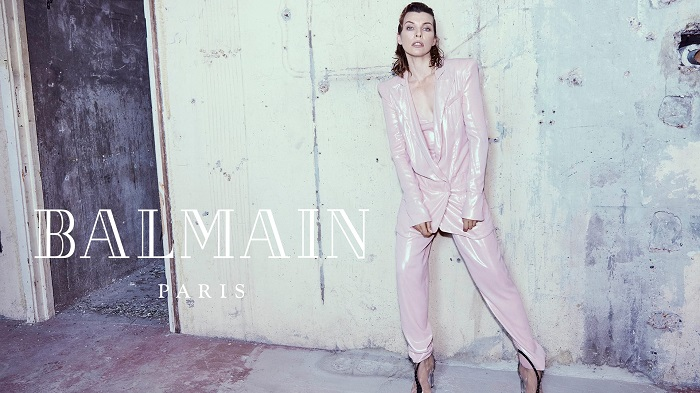 Milla-Jovovich-Fronts-Balmain's-Fifth-Element-Inspired-Fall-2018-Ads-oink suit